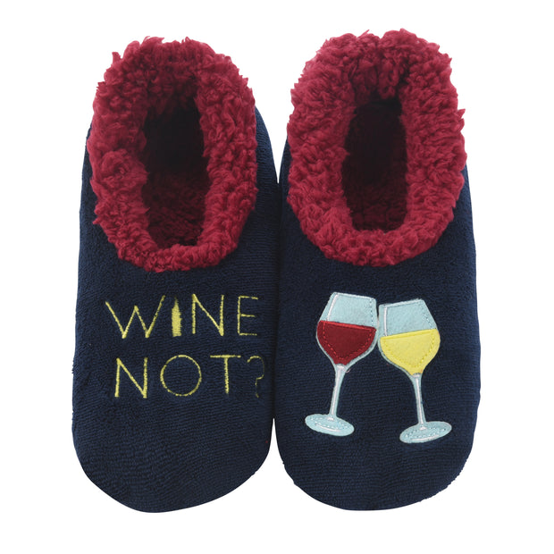 Wine Not Snoozies Slippers