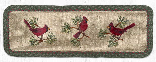 "Capitol Earth Rugs Holly Cardinal Jute Table Runner, 13"" x 36"" Oblong"