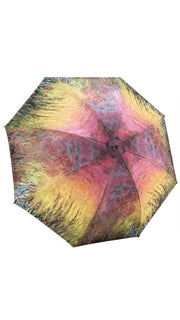 "Monet, ""Waterlilies at Sunset"" Reverse Close Umbrella"
