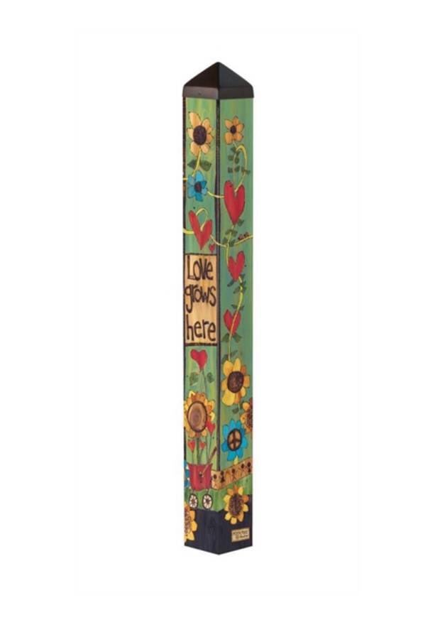 "Studio-M Where Love Grows 40"" Art Pole"