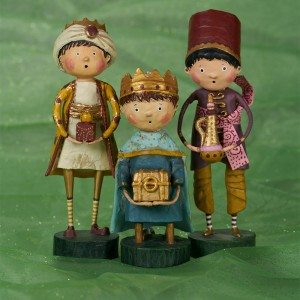 3 Wise Men - Giver of Gold, Gift of Myrrh, Wee Wise Man by Lori Mitchell