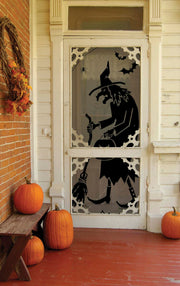 "Heritage Lace Black Witch Door/Window Panel 38""x84"""