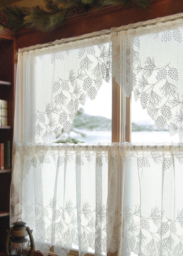 Heritage Lace Woodland Curtain Collection, White
