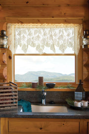 Heritage Lace Woodland Curtain Collection, Ecru