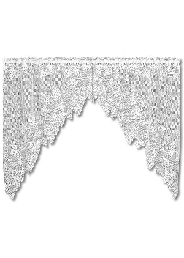 Heritage Lace Woodland Swag Pair, White