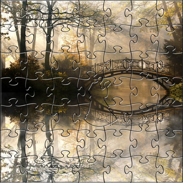 Misty Autumn Bridge Teaser Puzzle