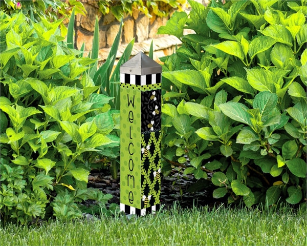 "Bee Trellis 20"" Art Pole"