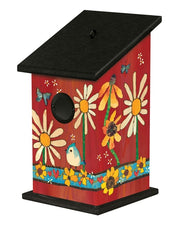 Daisies and Sunflowers Birdhouse