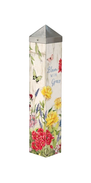 "Bloom with Grace 20"" Art Pole"