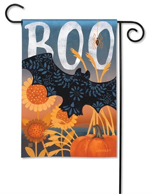 Boo Bat Garden Flag