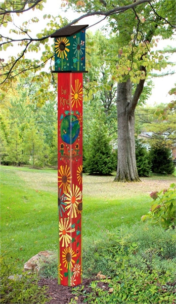 Magic of Kindness Birdhouse Art Pole