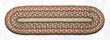 "Capitol Earth Rugs Braided Jute Stair Tread, 8.25"" x 27"" Oval, Honey/Vanilla/Ginger"
