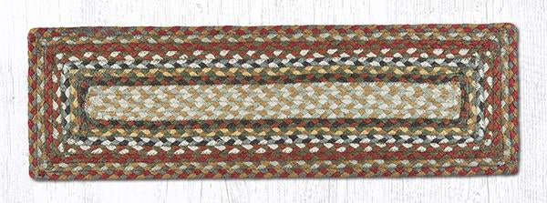 "Capitol Earth Rugs Braided Jute Stair Tread, 8.5"" x 27"" Rectangle, Honey/Vanilla/Ginger"