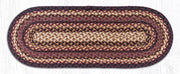 "Capitol Earth Rugs Braided Jute Table Runner, 13"" x 36"", Color: Black Cherry/Chocolate/Cream"