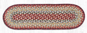 "Capitol Earth Rugs Braided Jute Stair Tread, 8.25"" x 27"" Oval, Thistle Green/Country Red"