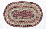 "Capitol Earth Rugs Burgundy Traditional Craft Spun Rugs, Oval 20"" x 30"""