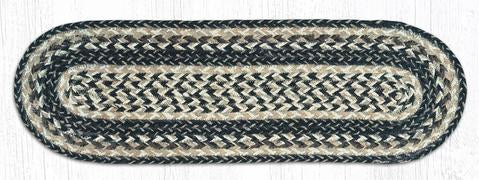 "Capitol Earth Rugs Oval Braided Jute Stair Treads, 8.5"" x 27"""