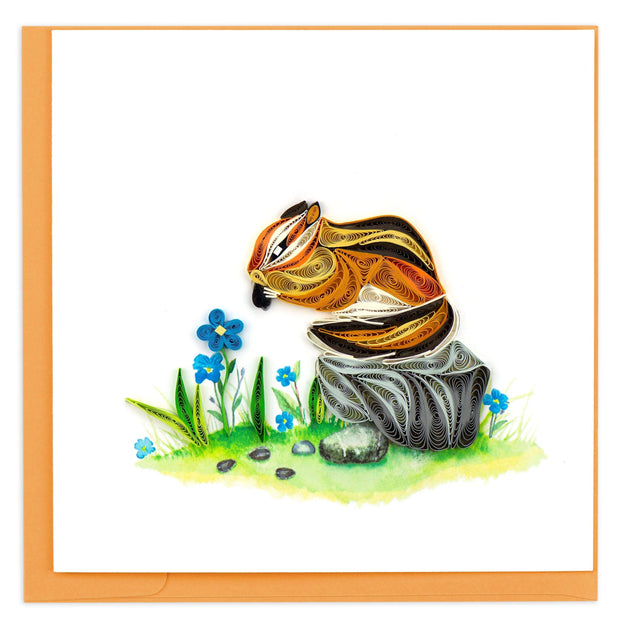 Chipmunk Quilling Card