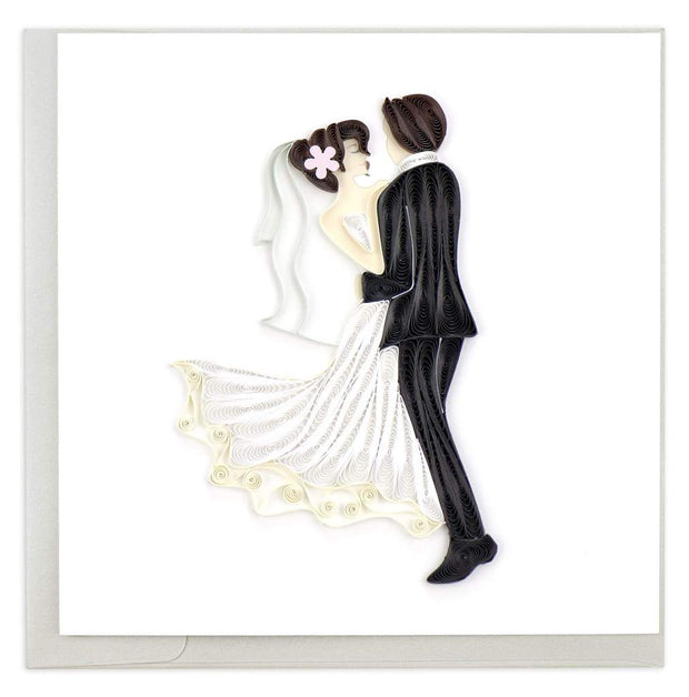 Dancing Bride & Groom Quilling Card