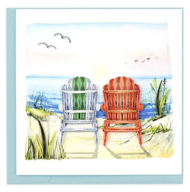 Beach Adirondack Chairs Quilling Card