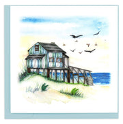 Beach House Quilling Card
