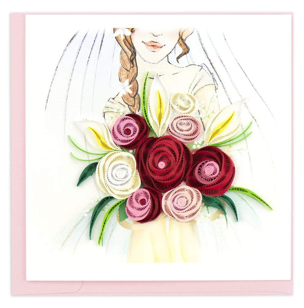 Bridal Bouquet Quilling Card