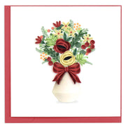 Holiday Bouquet Quilling Card