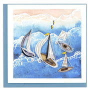 Sailboat Fleet Quilling Card