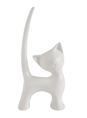 Stoneware Cat Ring Holder - Creative Co-op