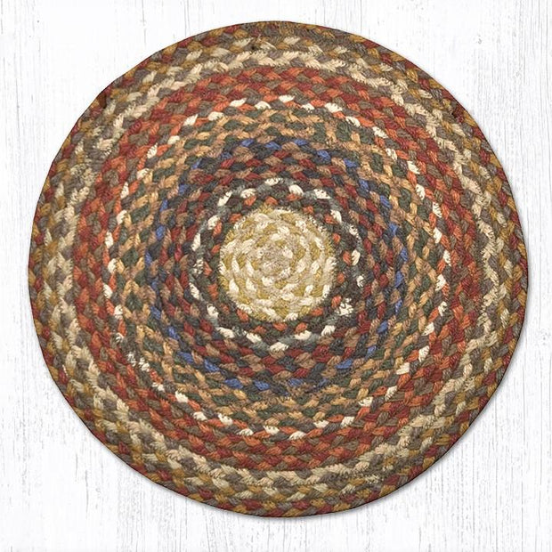 Capitol Earth Rugs Braided Jute Chair Pad, Honey/Vanilla/Ginger