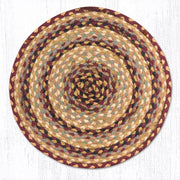 Capitol Earth Rugs Braided Jute Chair Pad, Burgundy/Grey/Cream