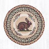 Capitol Earth Rugs Printed Chair Pad, Vintage Rabbit