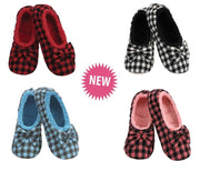 Check Me Out Mini Buffalo Plaid Snoozies Slippers