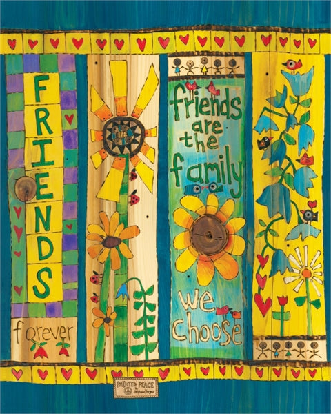 "Friends 20"" Art Pole"