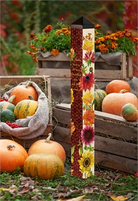 "Flowers of Fall 40"" Art Pole"