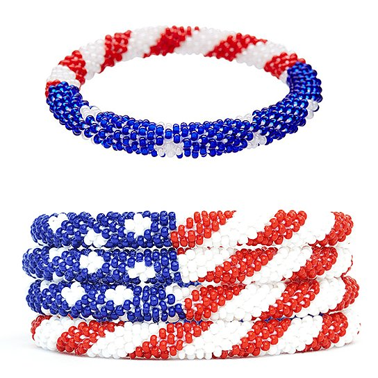 American Flag Prayer Flags Bracelet