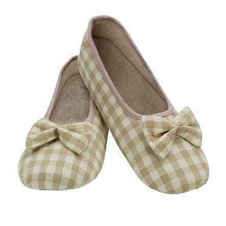 Gingham Ballet Snoozies Slippers
