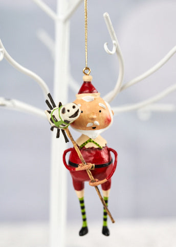 *NEW* Horsing Around Santa Ornament by Lori Mitchell