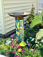Gather Friends Bird Bath Art Pole