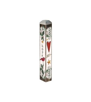 "Joy Heart 10"" Mini Art Pole"