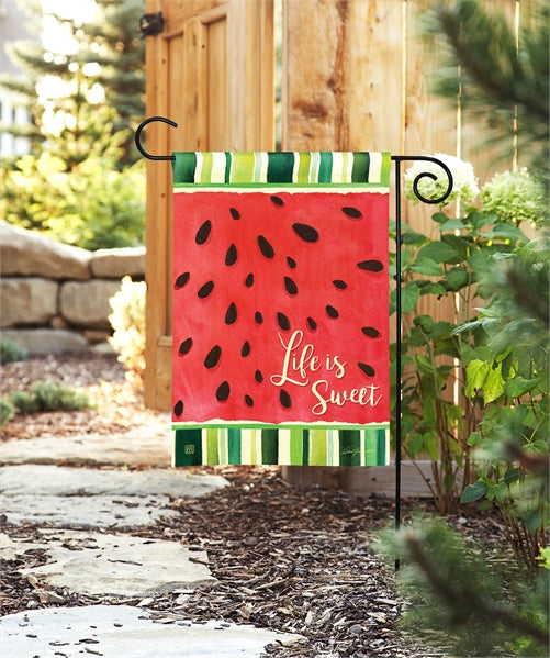 Studio-M Life is Sweet Garden Flag