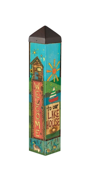 "Live Love Lake 20"" Art Pole"