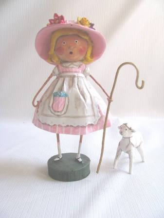 Little Bo Peep with Baby Sheep by Lori Mitchell