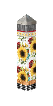 "Sunflower Checks 20"" Art Pole"
