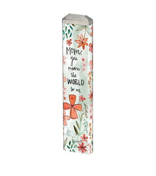 "Love you Mom 13"" Mini Art Pole"