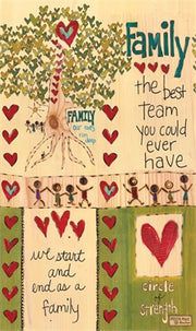 "Team Family 13"" Mini Art Pole"