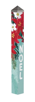 "Poinsettia Bloom 40"" Art Pole"