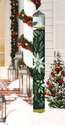 "Poinsettia Joy 60"" Art Pole"