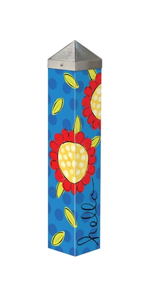 "Pop of Flowers 20"" Art Pole"