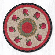 "Capitol Earth Rugs Apples Round Patch Rug, 27"" Round"